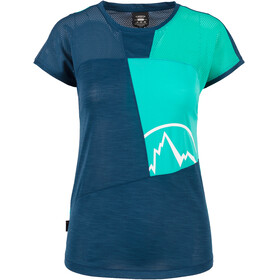 La Sportiva Push - Camiseta manga corta Mujer - azul/Turquesa